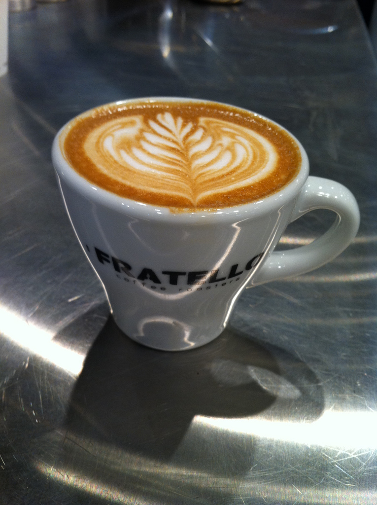 Latte art training